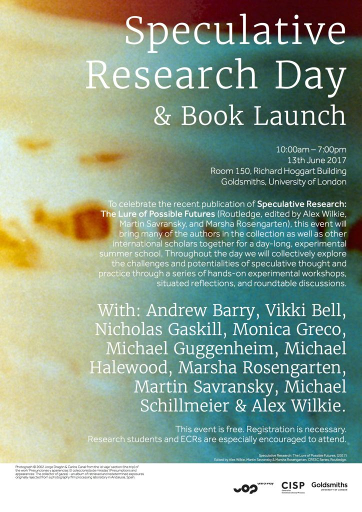 Speculative Research Day and Book Launch